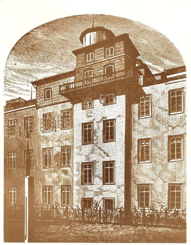 Fotó: Haynald Obszervatórium (Ismeretlen szerző rajza. Asbóth M. gyűjt.)