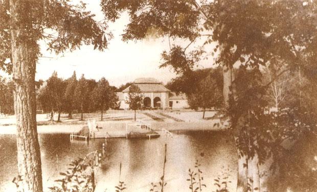 Fotó: Csajda fürdő (Korabeli képeslap. Asbóth M. gyűjt.)