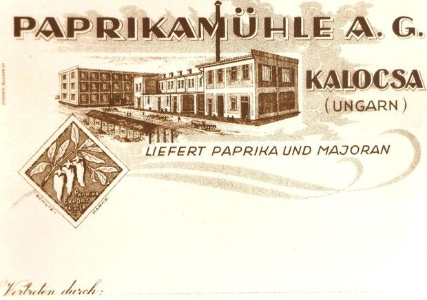 Fotó: Márer Paprikamalom (Korabeli reklám. Asbóth M. gyűjt.)