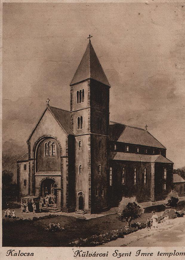 Fotó: Szent Imre templom (Korabeli képeslap. Asbóth M. gyűjt.)