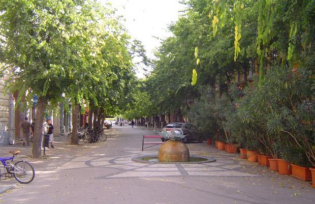 Fotó: A sétáló utca (Fotós: Asbóth Miklós)