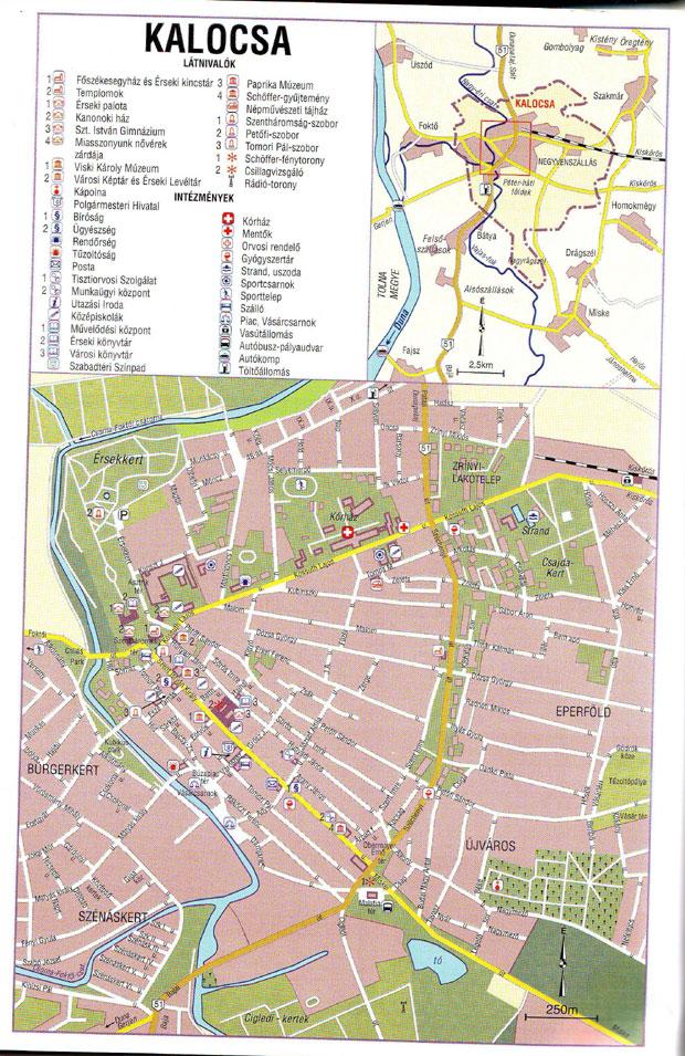 Fotó: Kalocsa 1991-es térképe (Kiad. a Cartographia Bp. 1991)
